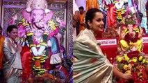 Kangana Ranaut seeks blessings from Andhericha Raja during Ganesh utsav; Watch video | FilmiBeat