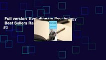 Full version  Evolutionary Psychology  Best Sellers Rank : #3