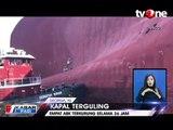 Kapal Kargo Terguling, 4 Orang Terjebak