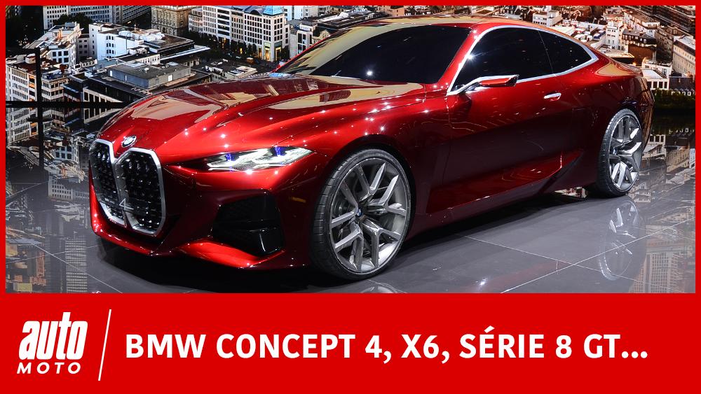 Salon de Francfort 2019 : les nouveautés BMW (Concept 4, X6, Série 1, Vision M Next)
