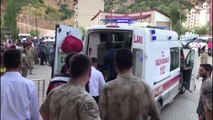 Bitlis'in Hizan ilçesinde köy minibüsü şarampole devrildi