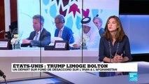 """Limogeage de Bolton : """"Le dossier afghan aurait mis le feu aux poudres"""""""