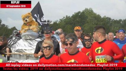 Replay Marathon du Médoc  2019-Ambiance sur la parcours 2 / runners atmosphere on the way 2