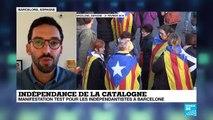 Manifestation test pour les indépendantistes à Barcelone