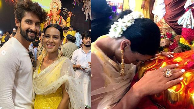 Nia Sharma & Ravi Dubey seek blessings from Ganpati Bappa during Ganesh utsav | FilmiBeat