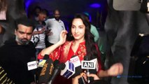 Nora Fatehi Visits T Series For Ganpati Darshan