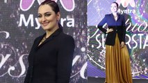 Sonakshi Sinha looks perfect in classic pantsuit & blazer jacket;Watch video | FilmiBeat