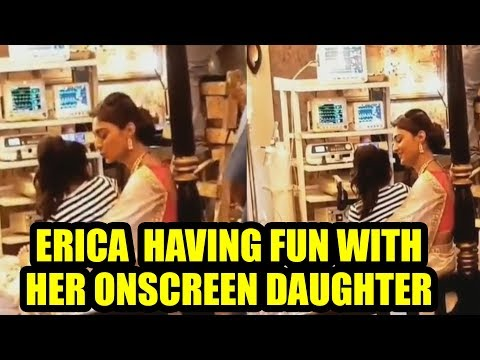 Erica Fernandes having fun with her onscreen daughter