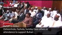 Buhari vs Atiku: Oshiomole, Fashola, Sunday Dare, others appears in court