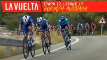 60km/h de moyenne depuis 10 minutes / 60 km/h average in the last 10 minutes - Étape 17 / Stage 17 | La Vuelta 19