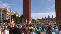 La ciudadanía empieza a llegar a la manifestación de la Diada