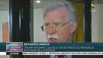 EEUU: Trump despide a John Bolton como asesor de seguridad