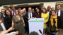 Cross-party MPs hold protest over prorogation of Parliament