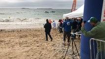 Arrivée du vainqueur de l'Ocean Racing de Quiberon