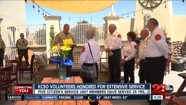 Kern County Sheriff's Office volunteers honored for extensive service