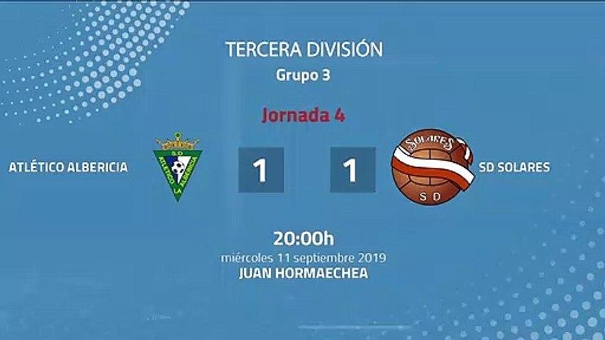 Resumen partido entre Atlético Albericia y SD Solares Jornada 4 Tercera División