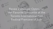 Renée Zellweger Opted for Her Favorite Silhouette at the Toronto International Film Festival Premiere of Judy