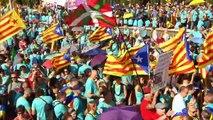 Protesto na Catalunha