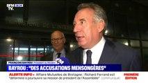 """Assistants des députés européens du MoDem: François Bayrou dénonce des """"accusations mensongères et fallacieuses"""""""