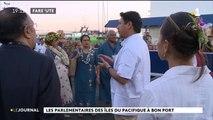 Les parlementaires du Pacifique visitent le port de pêche de Papeete