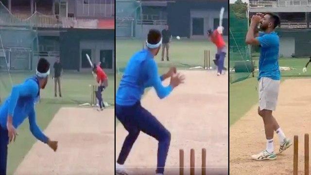 Pandya VS Pandya : Hardik Almost Knocks Krunal's Head Off In A Practice Session || Oneindia Telugu