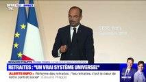 """Retraites: Édouard Philippe promet de """"bâtir un système vraiment universel"""""""