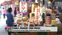 Food prices remain stable ahead of Chuseok holiday