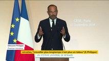 """Réforme des retraites : l'objectif reste """"un vote du Parlement sur le projet de loi d'ici la fin de la session parlementaire de l'été prochain"""", a précisé le Premier ministre Edouard Philippe"""