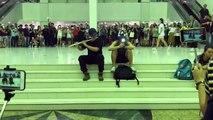 Quận Tai Po ( Đại Bộ ), New Territories ( Tân Giới ), Hong Kong chiều ngày 11 09 2019 (GMT+8)  Trong Tai Po Mega Mall - Độc tấu sáo trúc - Quốc ca Vinh quang Hong Kong 願榮光歸香港 Glory be to thee, Hong Kong ( Nhạc đấu tranh của phong trào dân chủ Hong Kong