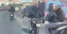 Motociclista transporta o seu cão à patrão em plena IC19