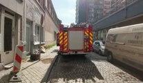 Incendie rue Marengo à Liège (2)