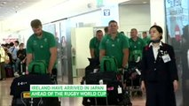 Ireland arrive in Japan ahead of World Cup