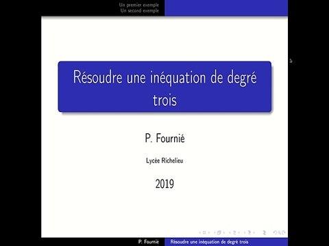 Résolution d'inéquations de degré trois