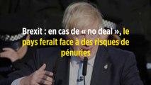 Brexit : en cas de « no deal », le pays ferait face à des risques de pénuries