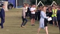 Prince Harry high fives school kids in Luton