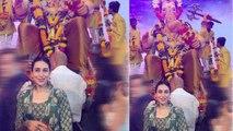 Karishma Kapoor seeks blessings from Lalbaugcha Raja during Ganpati utsav | FilmiBeat