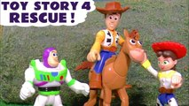 Toy Story 4 Rescue Challenge with Thomas and Friends Tom Moss Pranks and a Surprise Eggs Hide and Seek Game in this Full Episode English