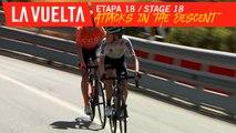 Attaques dans la descente / Attacks in the descent - Étape 18 / Stage 18   La Vuelta 19