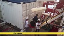 Pregnant Nigerian woman airlifted from migrant ship