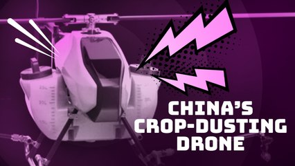 This crop-dusting drone helps farmers in Northeast China