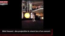 Bilal Hassani : des projectiles le visent lors d'un concert (vidéo)