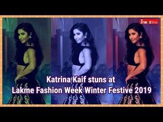 Lakme Fashion Week Winter Festive 2019 | ब्लैक लहंगे में बेहद हॉट दिखीं Katrina Kaif