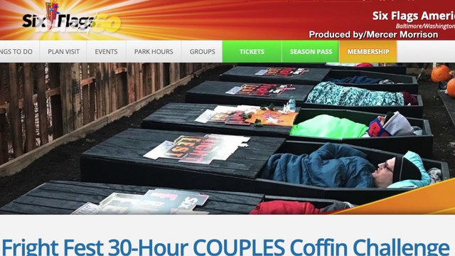 Dead Set! Six Flags Fright Fest Offers 30-Hour Coffin Challenge For Couples!