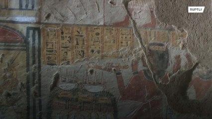 Asombroso trabajo de restauración de tumbas egipcias en Luxor