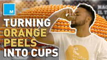 This juice bar uses leftover orange peels to 3D print bioplastic cups