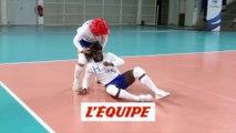 Jeanne et Serge défient les Bleus - Volley - WTF