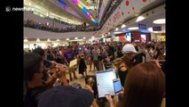Hong Kong's new protest 'anthem' gets orchestral treatment at Kowloon shopping mall