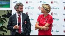 Le parole di Mister Ganz e capitan Giacinti a Milan TV