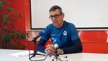 Jean-Louis Garcia, l'entraîneur de l'AS Nancy Lorraine,  espère que son équipe montrera des progrès face à Guingamp