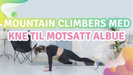 Mountain climbers med kne til motsatt albue - Veien til Helse